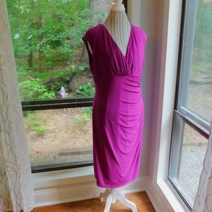 Dresses & Skirts - PRICE DROP! HP💞 NY&C Purple ruched vneck